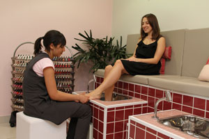 Pedicure com toque especial